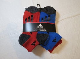 Adidas Youth Cushioned Climalite Stain Resistant Socks Low Cut 6 Pair 13... - $39.59