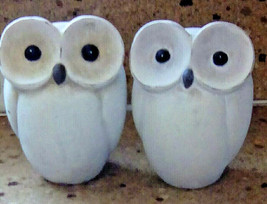 "Pair of Terra Cotta Owl Unglazed Pottery Bisque 6"" Set of Two - $24.74"