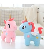 20cm Unicorn with Wings Stuffed Plush Cute Toy Pink Blue Soft Sleeping P... - $10.40