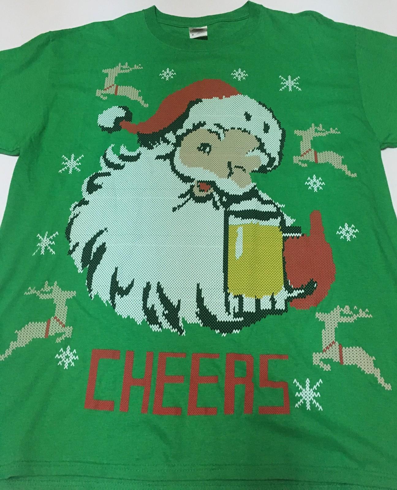 Holiday Party TShirt CHEERS Beer & Santa NWT Sz L