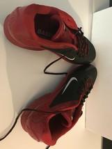 NIKE Men Air Huarache Pro Metal Baseball Cleats 599233-016 Size 14 New Black Red - $18.50