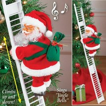 Christmas Gift Electric Climbing Ladder Santa Claus Xmas Tree Decor Orna... - $16.62