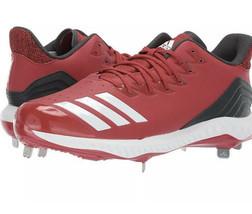 ADIDAS Icon Bounce Baseball Metal Cleats SZ12 Power Red/White/Black CG5242 NWOB - $27.83