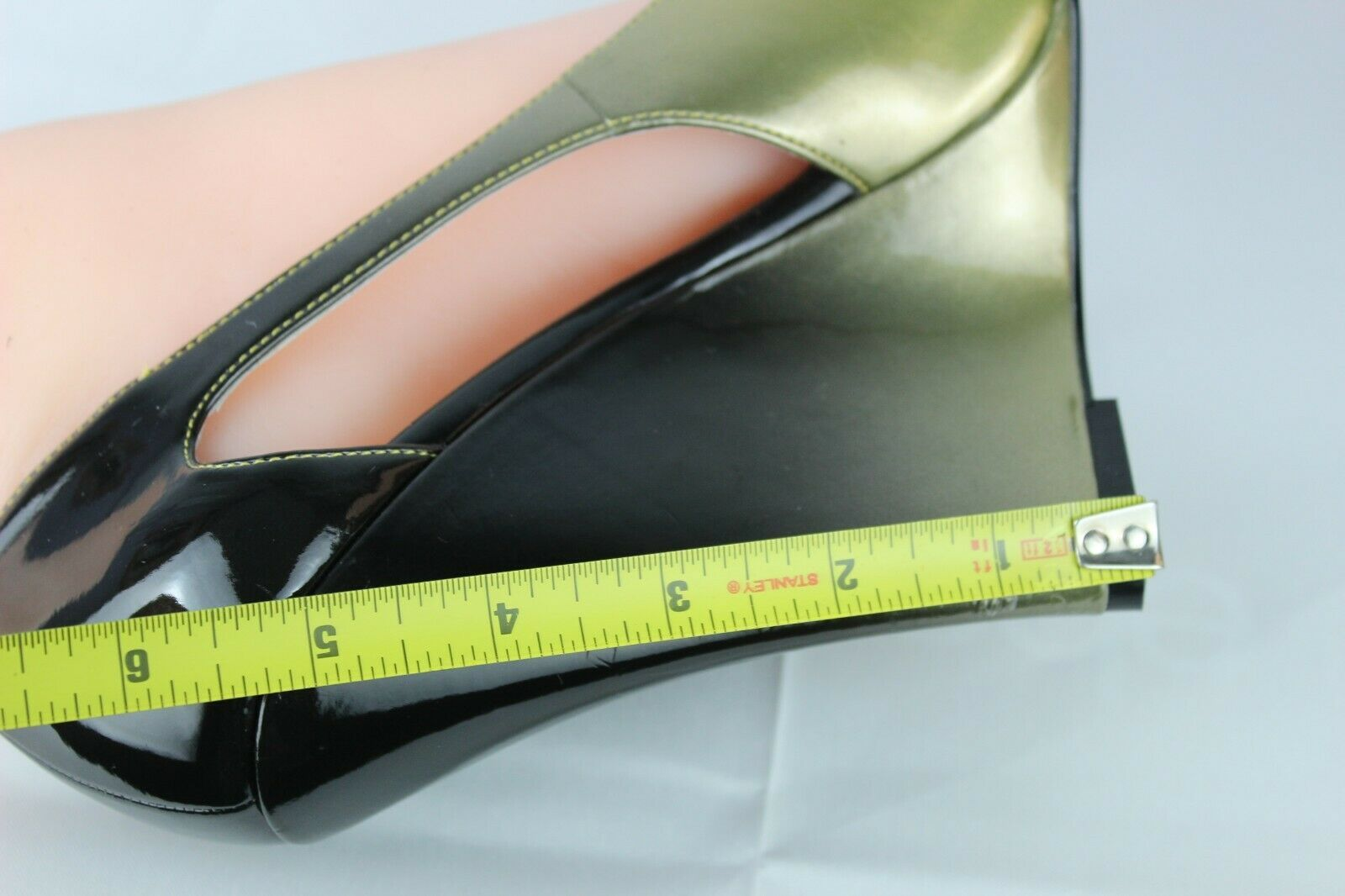 Jessica Simpson pensly women's wedge heels shoes green open toe size 10B image 9