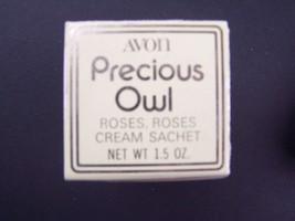 Avon Precious Owl Roses, Roses Cream Sachet 1.5 Fl Oz Original Box Vintage 1970s - $11.97