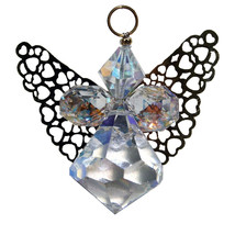 Crystal Angel with Gold Wings image 2