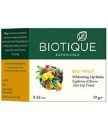 12 GM Biotique Bio Fruit Whitening Lip Balm  Lightens & Evens-Out Lip To... - $9.13