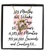 31st Anniversary Message Card Necklace, 31 Year and Counting Anniversary  - £21.78 GBP