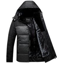 Winter Coat Men black puffer jacket warm male overcoat parka outwear cot... - $57.01+