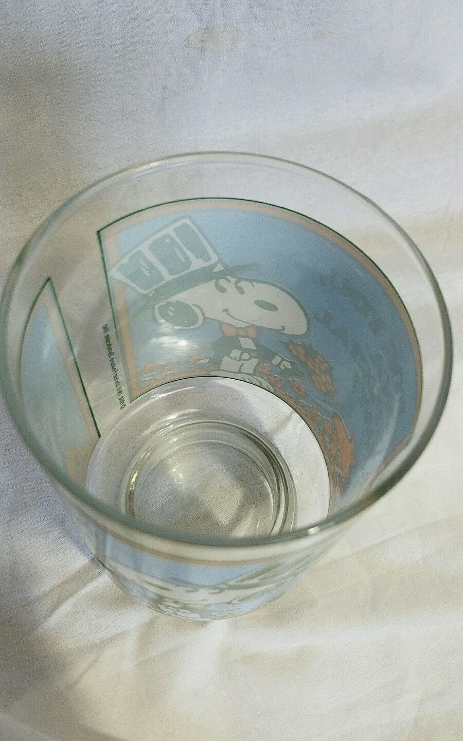 1965 Snoopy Woodstock Drinking Glass United Feature Syndicate 6.5 x 12 Old