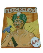 Vintage Reproduction Blockhead Circus Sign 8 X 12 Inches New Aluminum Fr... - $20.00