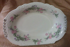 "VINTAGE HOMER LAUGHLIN Virginia Rose 9"" Oval Serving Dish Bowl M53N8 USA - $15.83"