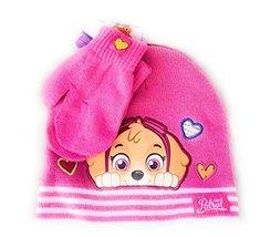 Paw Patrol Toddler Girls Winter Hat and Gloves Set, Pink - $21.77