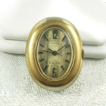 Vintage Timex Electric Ladies Watch Gold Tone Oval Case Face - PARTS/REPAIR - $20.78