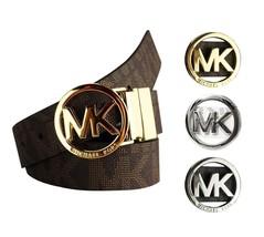 Michael Kors Women's Signature Reversible Circle MK Logo Belt 551342