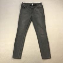 "W62 Womens Skinny Jeans Sz 4 Gray Signature Fit Denim Pants Falt Front 30"" Ins - $10.37"