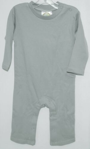 Blanks Boutique Boys Long Sleeved Romper Color Gray Size 12 Months
