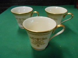 "Great Lenox ""Castle Garden"".....Set Of 3 Demitasse Cups - $17.41"