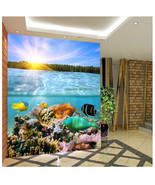 3D Sky Ocean Reef 873 Wallpaper Mural Paper Wall Print Wallpaper Murals UK - $39.96+