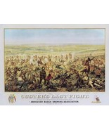 Custer's Last Fight Armstrong Custers Last Stand Western Indian War 18x2... - $187.11