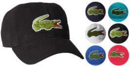 Lacoste Men's Classic Gabardine Premium Cotton Big Croc Logo Adjustable Hat Cap