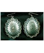 .925 Sterling Silver Earrings Southwest Design Vtg g25 - $49.49