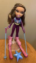 Bratz Play Sportz Skiing Yasmin Doll With Skis And Poles Sportz Ski - $28.98