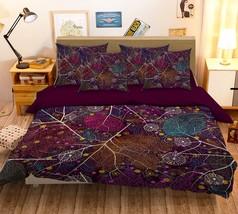 3D Red Leaves 026 Bed Pillowcases Quilt Duvet Single Queen King US Lemon - $102.84+