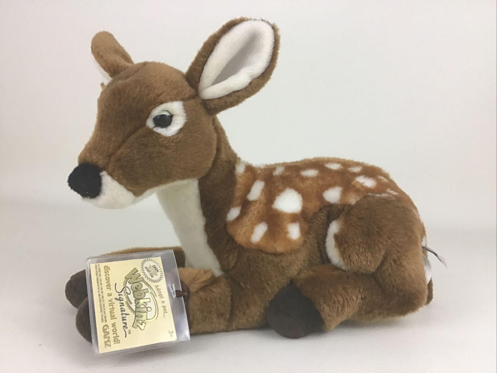 Webkinz Signature Sleepy Baby Fawn Deer Plush Stuffed Animal Toy Ganz with CODE - $39.55