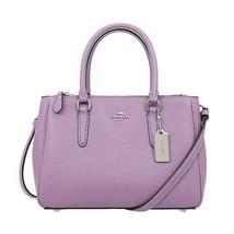 NWT COACH Mini Surrey Carryall Crossbody Bag Classic Lilac Lavender F449... - $120.78