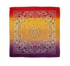 "12 Pack Gradient Rainbow Cotton Head Wrap Scarf Bandana Ombre Colors 22"" X 22"" image 6"