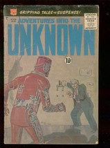 ADVENTURES INTO THE UNKNOWN #110 1959-GREYTONE ROBOT CV VG- - $49.66
