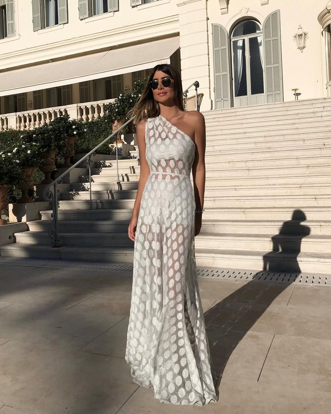 Cheap One Shoulder White Lace Long Women Skirts A Line Beach Prom Party Gowns