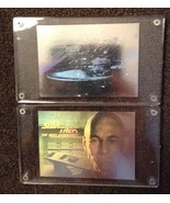 1991 Impel Star Trek 25th Anniversary Hologram Chase Insert cards H2 & H4 - $9.97