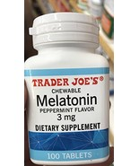 Trader Joe's Chewable Melatonin Pepermint Flavor 3mg pack of 1 - $9.35