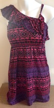 Extremely Me Girls Size 7/8 Sun Dress Sleeveless Purple Pink Red Geometric - $7.87