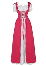 Zhitunemi Medieval Renaissance Costumes Dress for Women Cosplay Peasant ... - £53.30 GBP