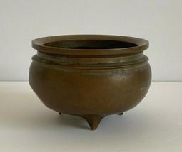 Antique Chinese Three-Legged Bronze Brass Censer Incense Burner - $791.01