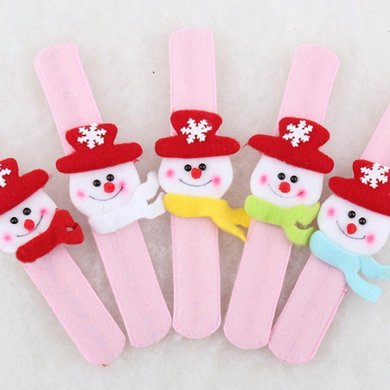 Children Christmas Wrist Straps Gift Xmas Party Toys Decors Santa Claus Reindeer