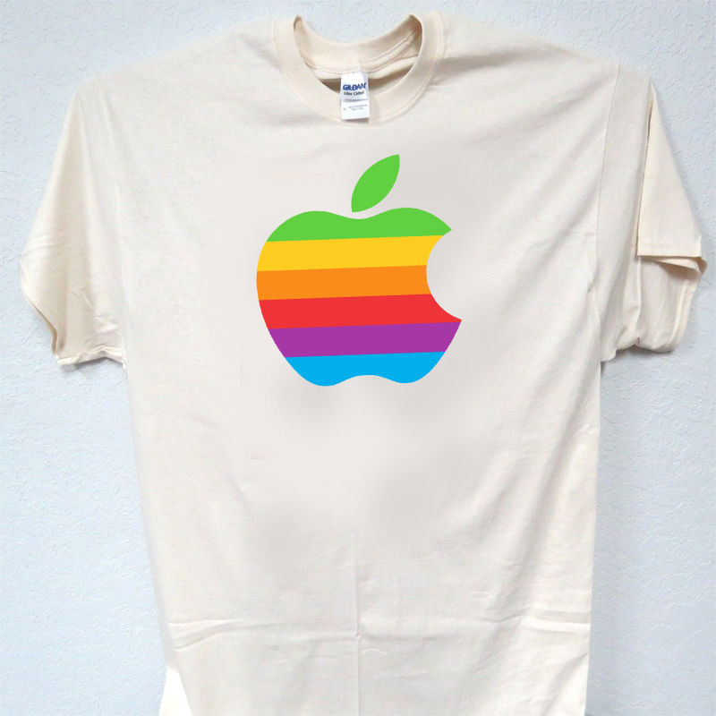 """APPLE, 70's Vintage """"Rainbow"""" Logo, T-SHIRT,ALL SIZES, S-5XL, T-955Ivy,L@@K! for sale  USA"""