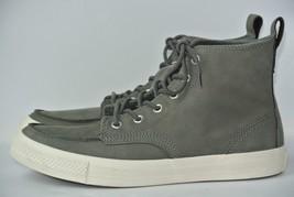 NEW Converse Classic CT Hi Top Mens Sz 10 Charcoal Grey Leather Shoes 135247C - $59.39