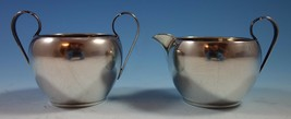 Georgian Colonial by Wallace Sterling Silver Sugar and Creamer Set 2pc (#1839) - $289.00