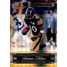 NFL 2007 Playoff Prestige Xtra Points GGOLD #118 Santonio Holmes STEELERS  - $1.49