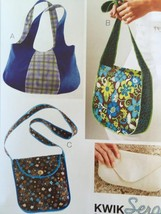 Kwik Sew Sewing Patterns 3700 Kwik Serge Bags New - $17.08