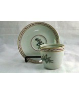 Vista Alegre Pink Floral And Laurel Demitasse  Cup And Saucer Set - $13.49