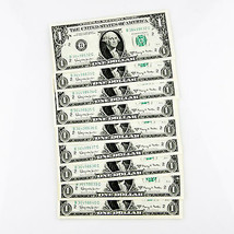 1963A FEDERAL RESERVE NOTES 9 CONSECUTIVE NOTE B36498632C-B3649640C - $59.50