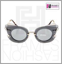 MIU MIU Overlapping Game 02S Grey Silver Mirrored Butterfly Sunglasses MU02SS image 6
