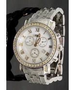 Mens JOJO JC10132 Joe Rodeo 2.60 CTTW Yellow White Diamond Band Watch #3... - $791.01