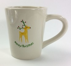 Merry Christmas REINDEER Coffee Mug BIA 2007 San Francisco Antler Lights - $12.58