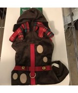 New! Petco Time for Joy Plaid Reindeer Antler Cat Harness One Size - $10.44